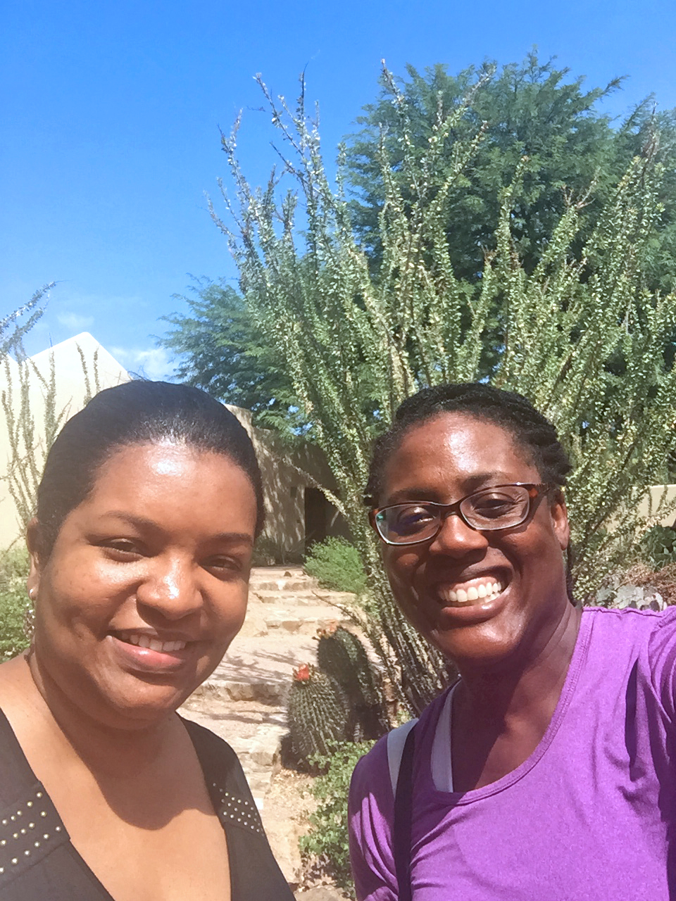 In Arizona with a friend