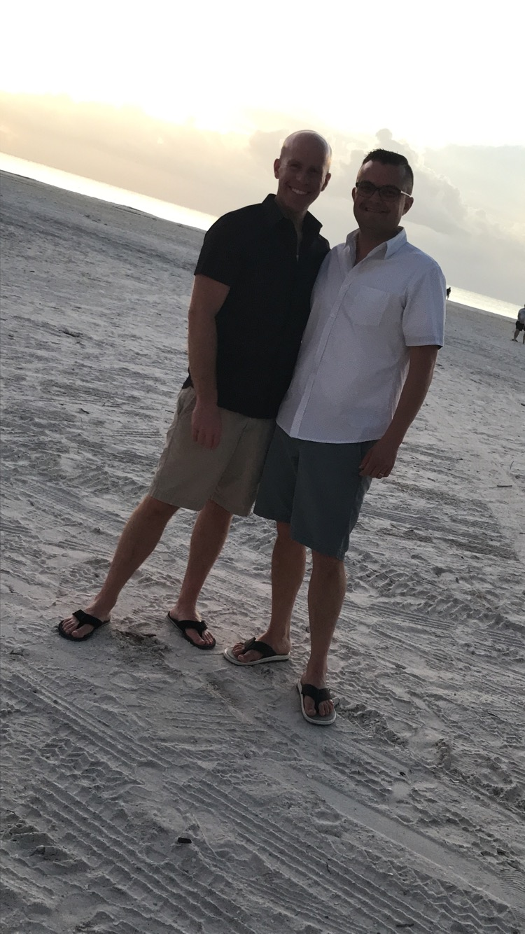 Enjoying the sunset in Marco Island
