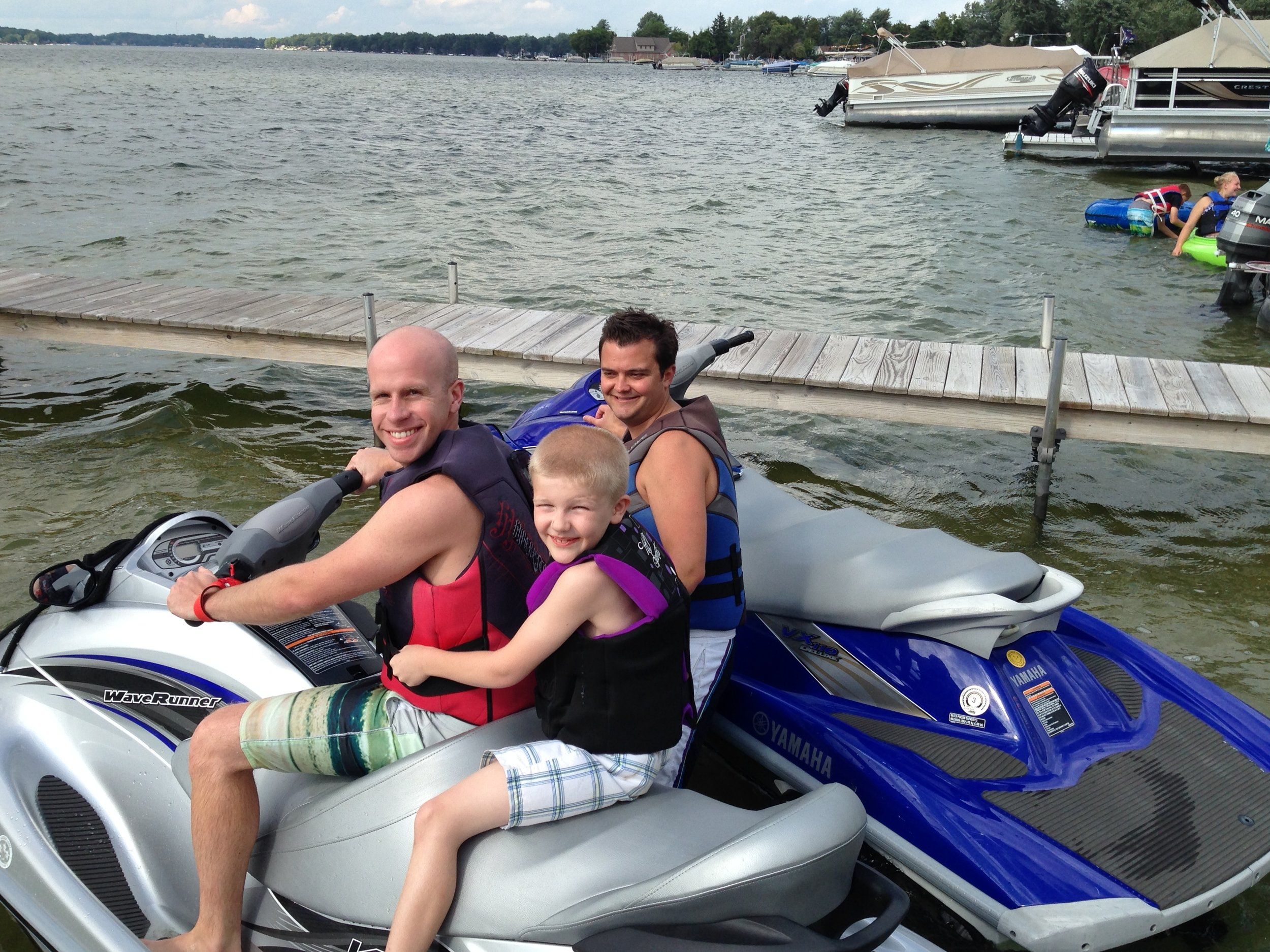 Lake time with our Nephew