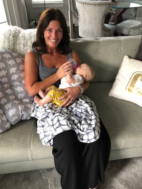 Amanda and her friend's newborn