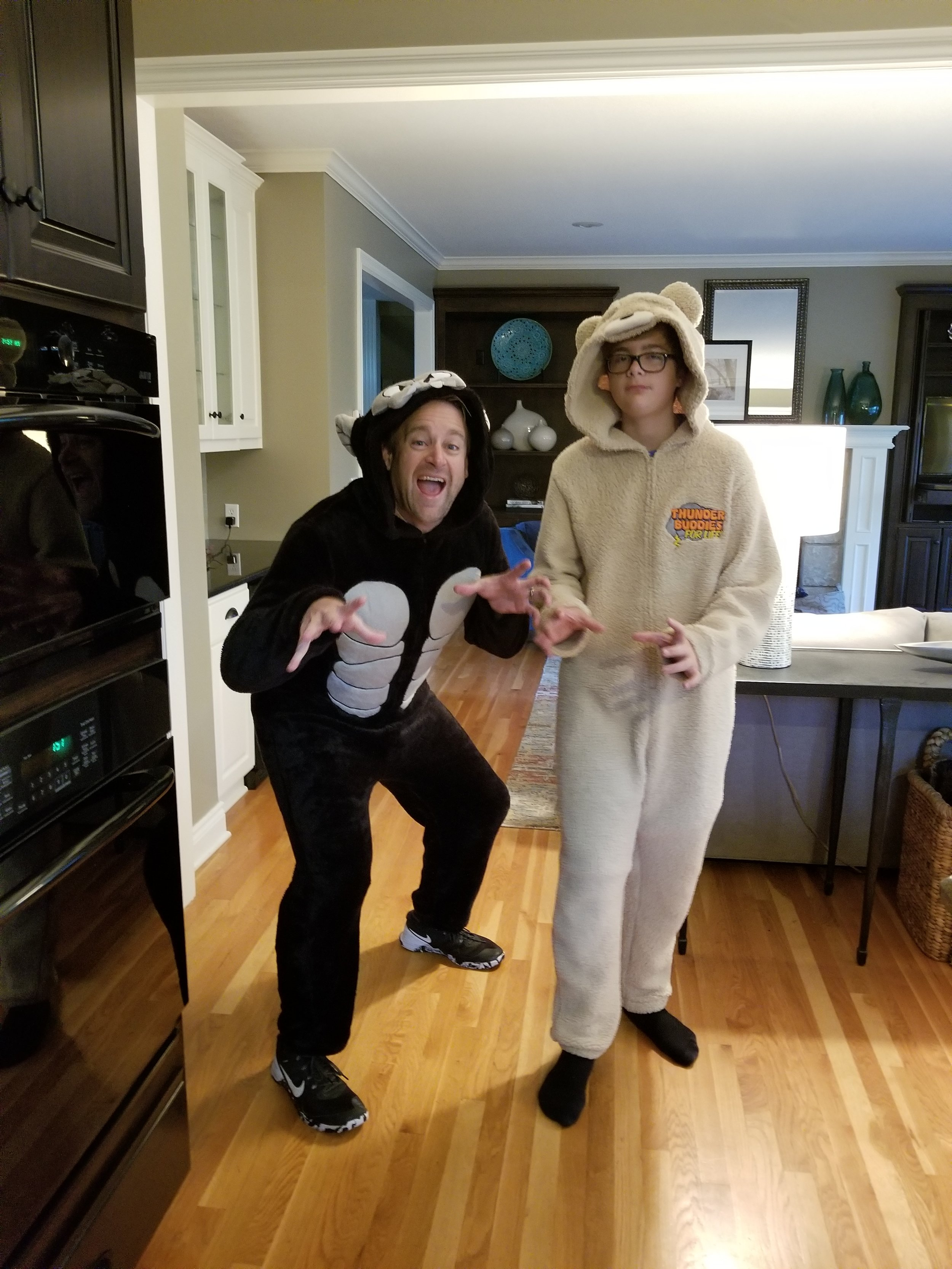 Dressing up for Halloween