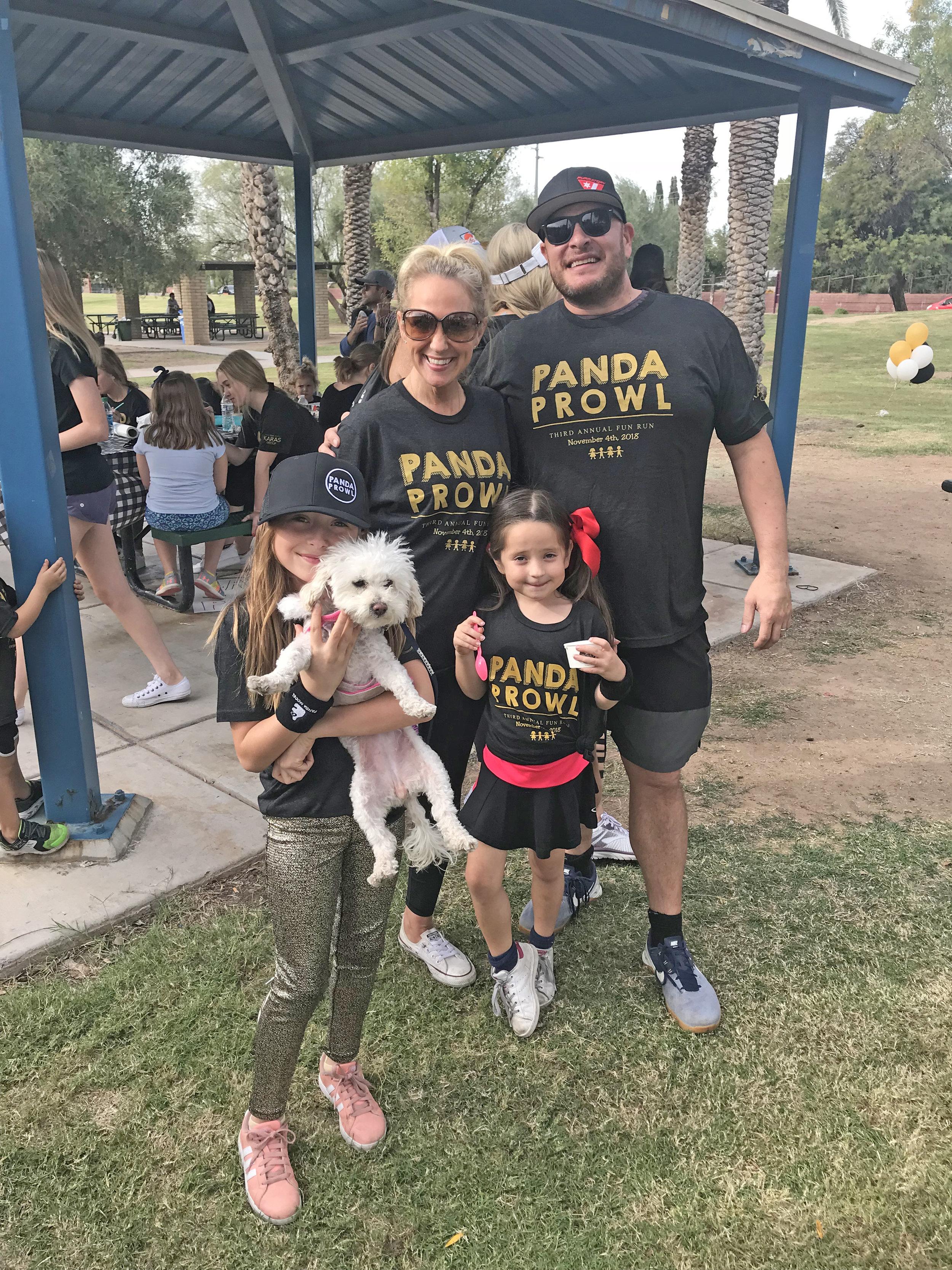Panda prowl fundraiser family fun run