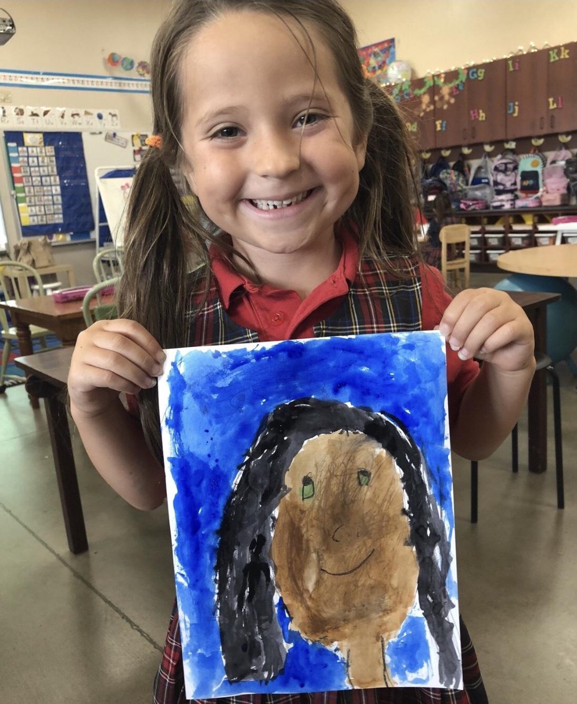 Lyla loves art!