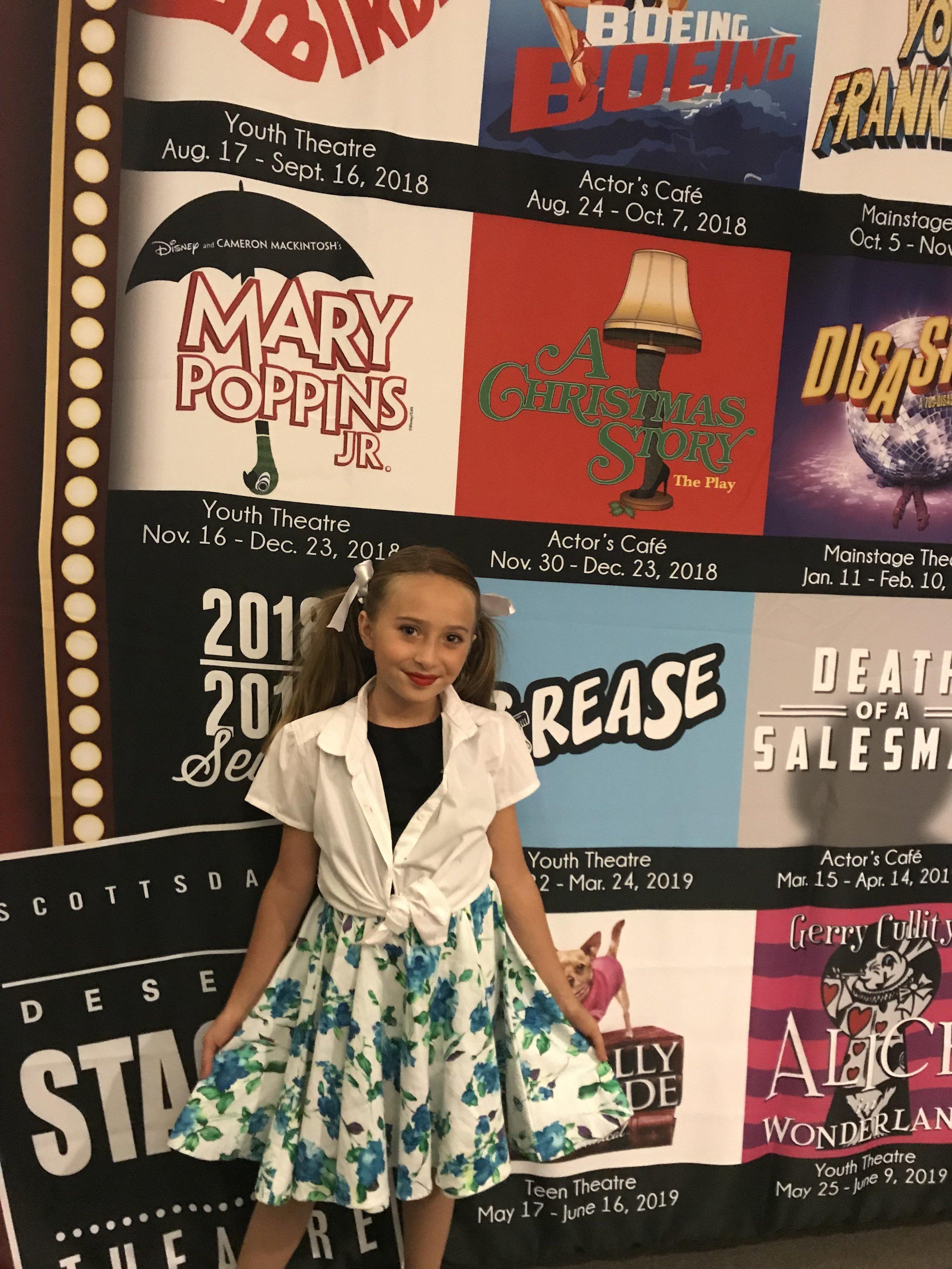 Scarlette has been in twelve plays!