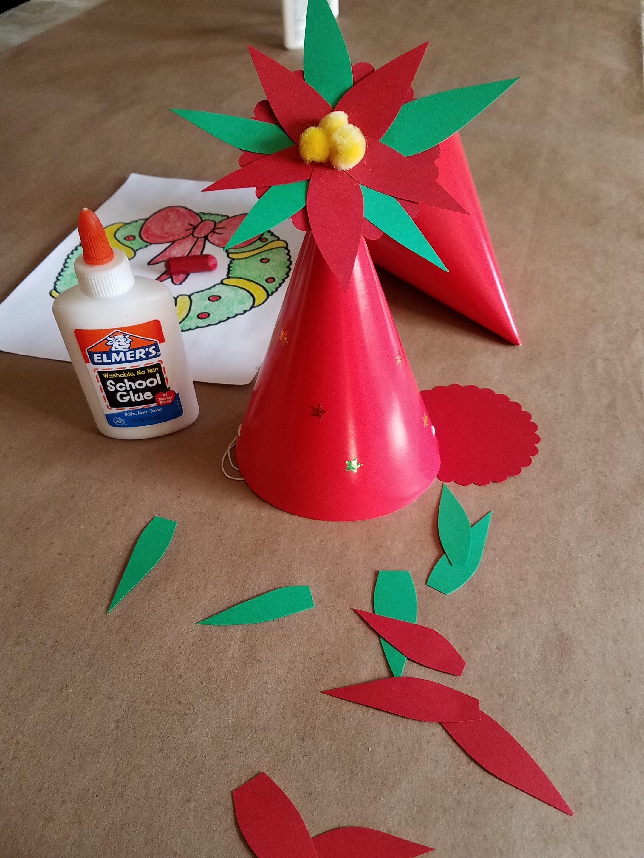 Dec Craft 2018 Poinsettia Party Hat 1.jpg