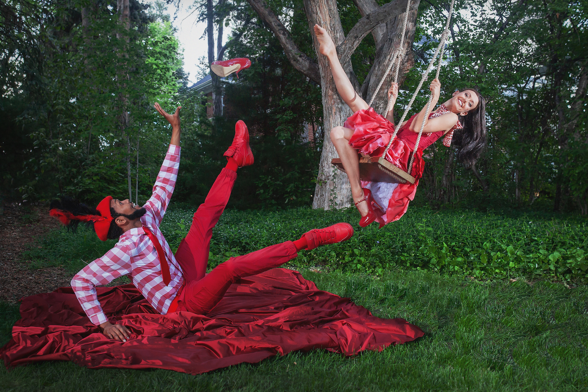 Wonderbound in  Cupid's Playground  with the Colorado Symphony. Pictured Damien Patterson and Amy Giammarrusco. Photo by  Amanda Tipton . 2018.