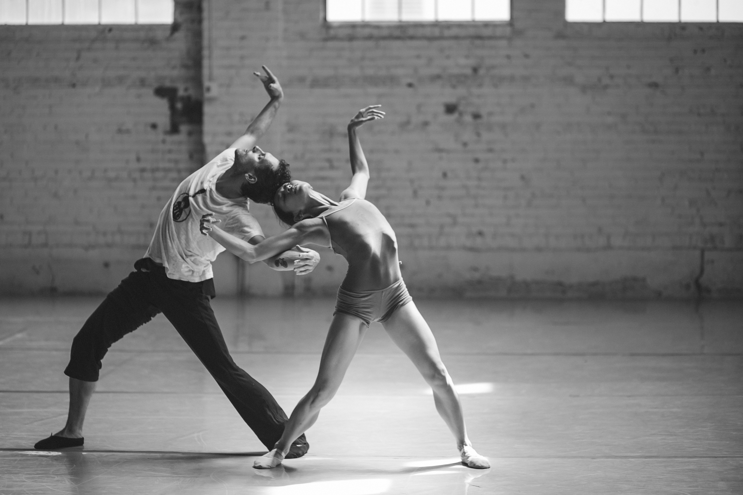 Wonderbound's Marian Faustino and Dylan G Bowley rehearsing Garrett Ammon's  Hidden Constellation  with Hal Aqua and The Lost Tribe. Photo by  Amanda Tipton . 2015.