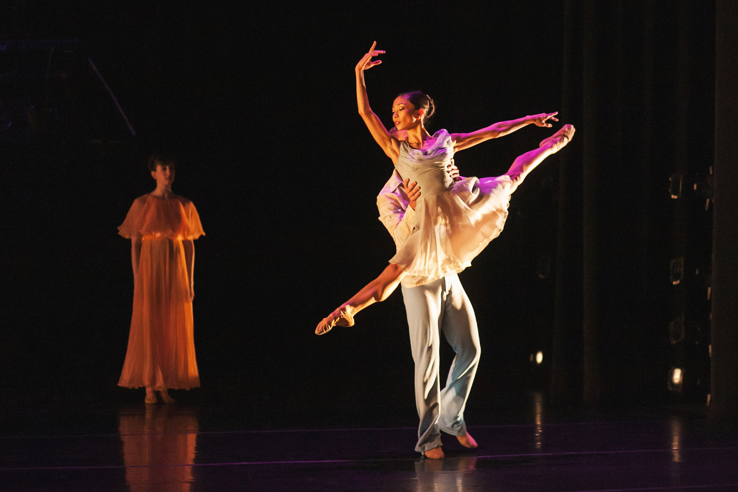 Wonderbound's Marian Faustino, Conner Horack and Morgan Sicklick in Garrett Ammon's  Love of My Life  with Chimney Choir and Ian Cooke Band. Photo by  Amanda Tipton . 2015.