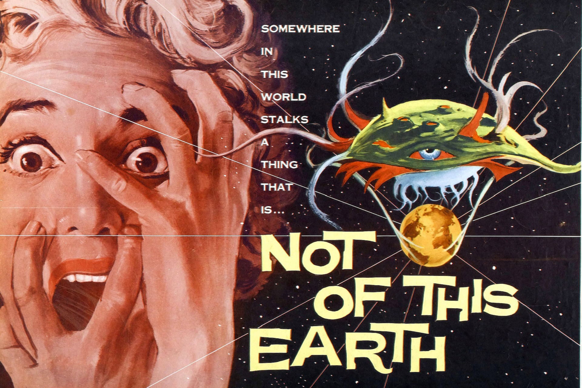 Not of This Earth movie poster. 1957