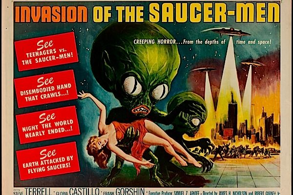 Invasion of The Saucer-Men  movie poster 1957