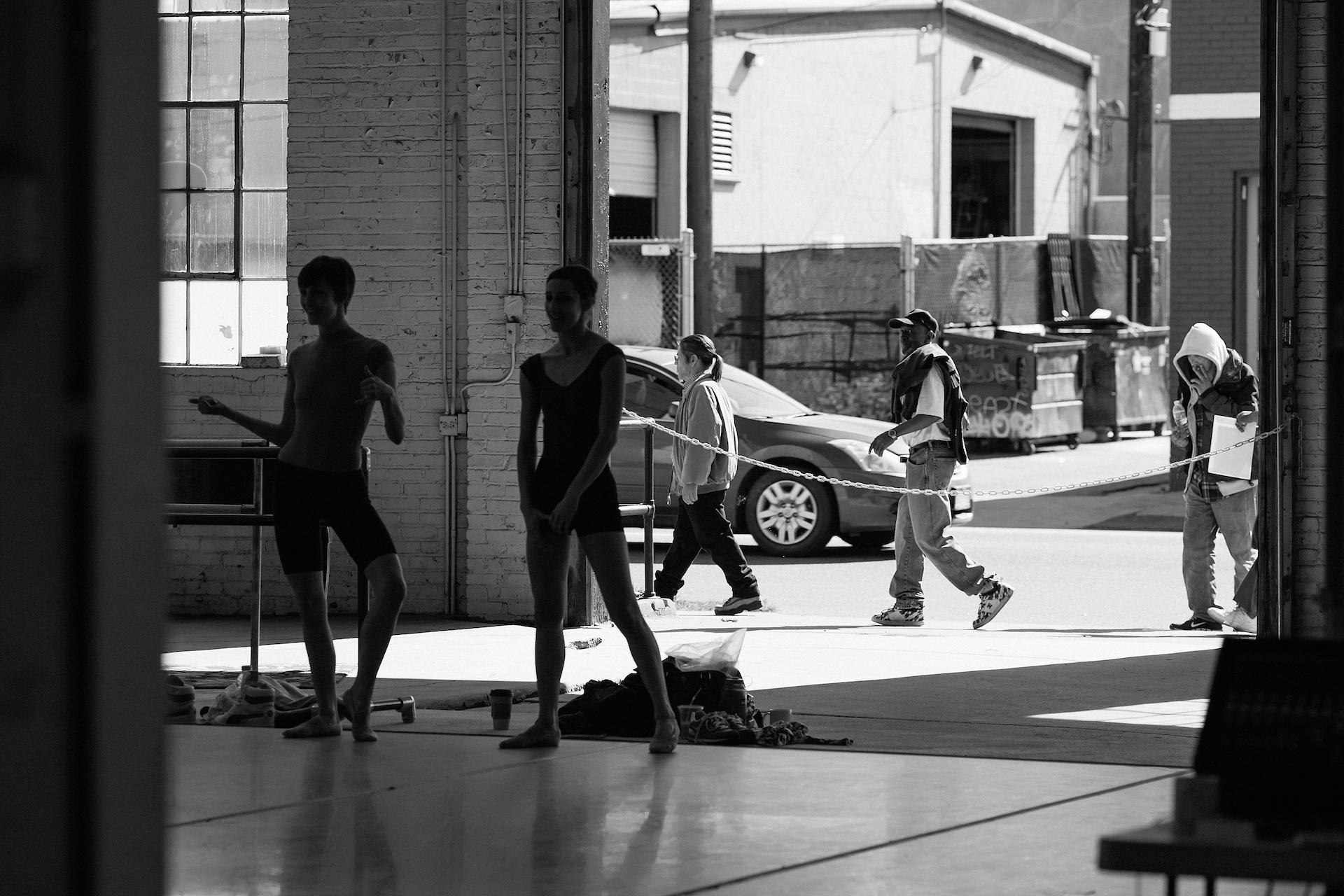 "Wonderbound dancers in rehearsal. Photo by Amanda Tipton. 2013 """