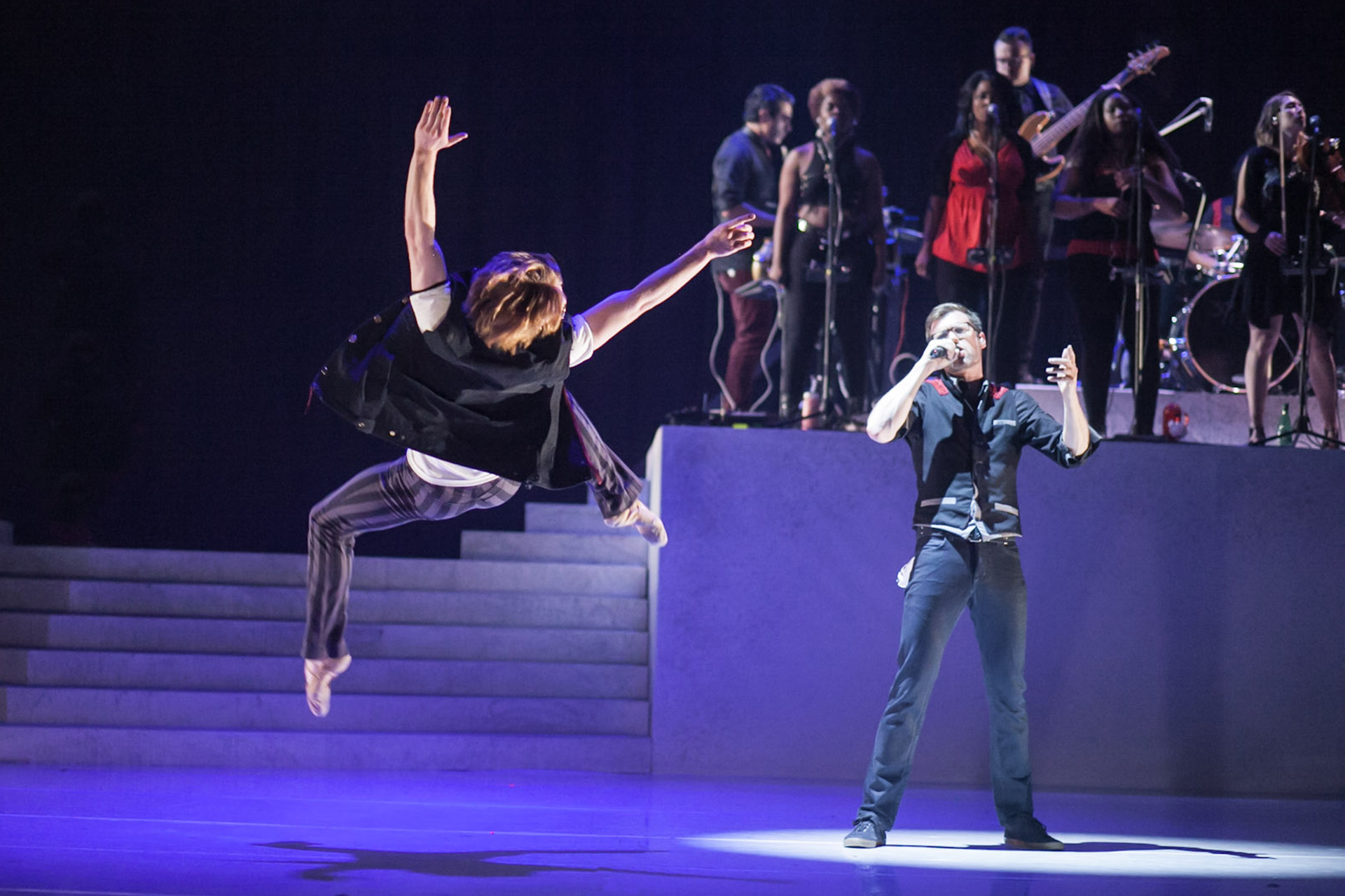 Wonderbound's Ben Youngstone and Flobots' Jamie Laurie in Garrett Ammon's 'Divisions.'