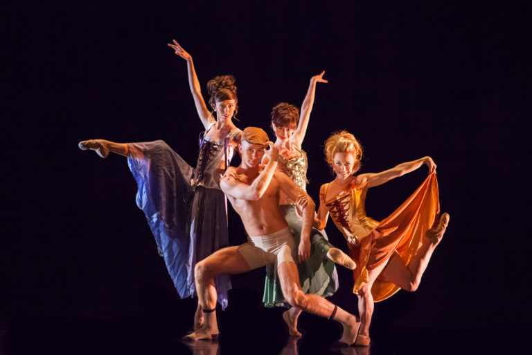 Wonderbound dancers in Garrett Ammon's  A Dangerous Liaison with Baroque Chamber Orchestra. Photo by  Amanda Tipton . 2017.