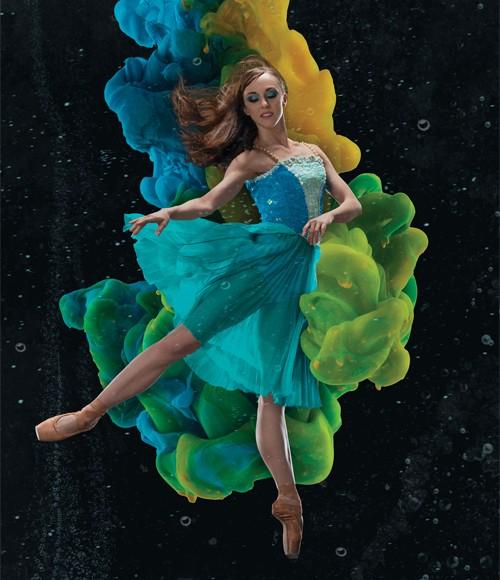 Colorado Ballet dancer in  The Little Mermaid . Photo by Allen Birnbach. 2017.