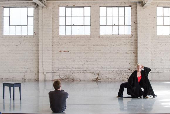 Wonderbound's Garrett Ammon and Sarah Tallman in rehearsal. Photo by  Amanda Tipton . 2016.