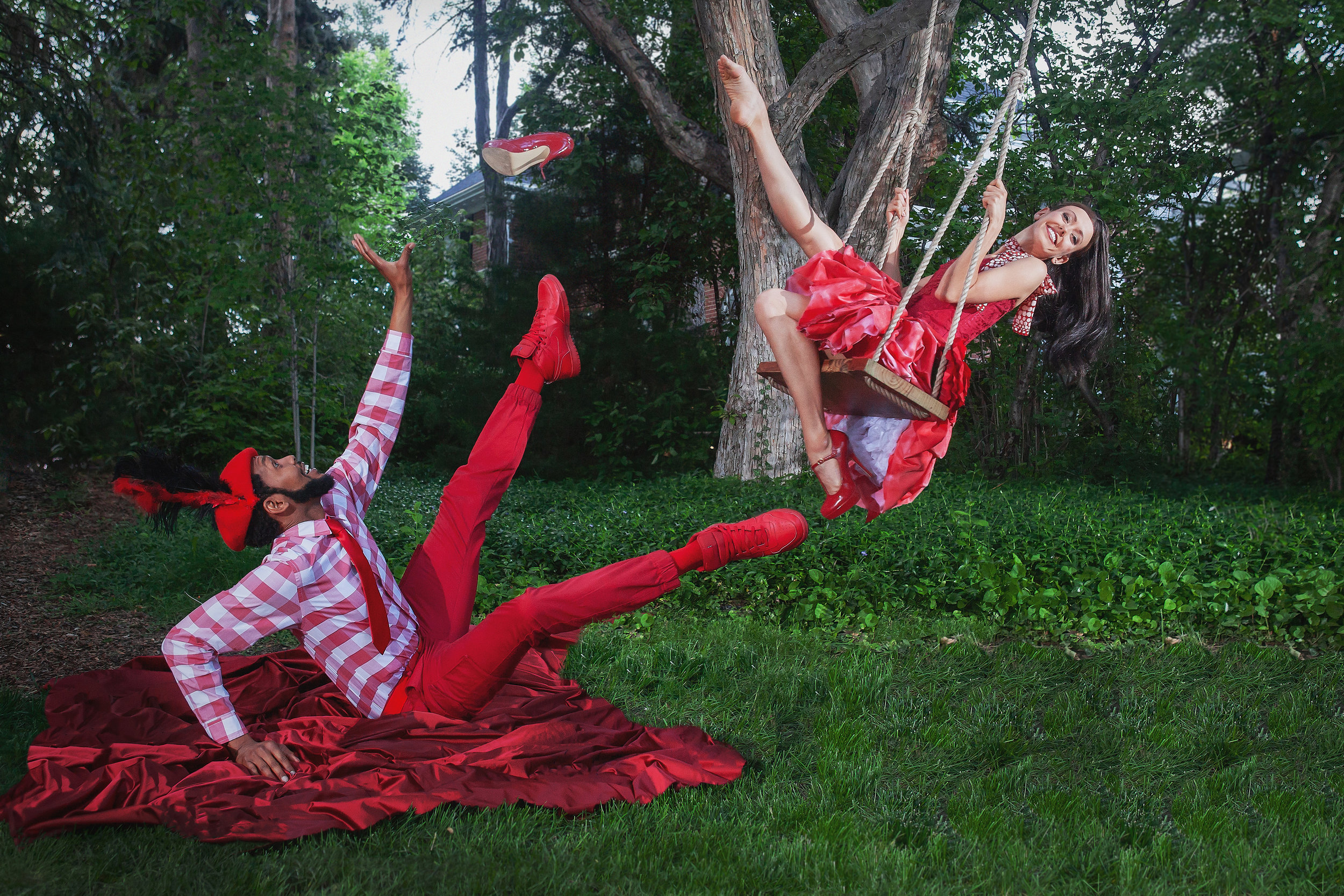 Wonderbound dancers Amy Giammarrusco and Damien Patterson in  Cupid's Playground  with the Colorado Symphony. Photo by  Amanda Tipton , 2018.