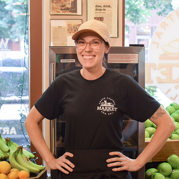 Christina Meuser   Christina is the mastermind behind everything the market does. You can find her restocking the produce or making your sandwich behind the diner counter. She will always greet you by name and make you leave feeling like family.