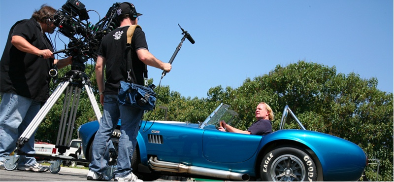 Stephen Becker being interviewed for a Shelby American documentary