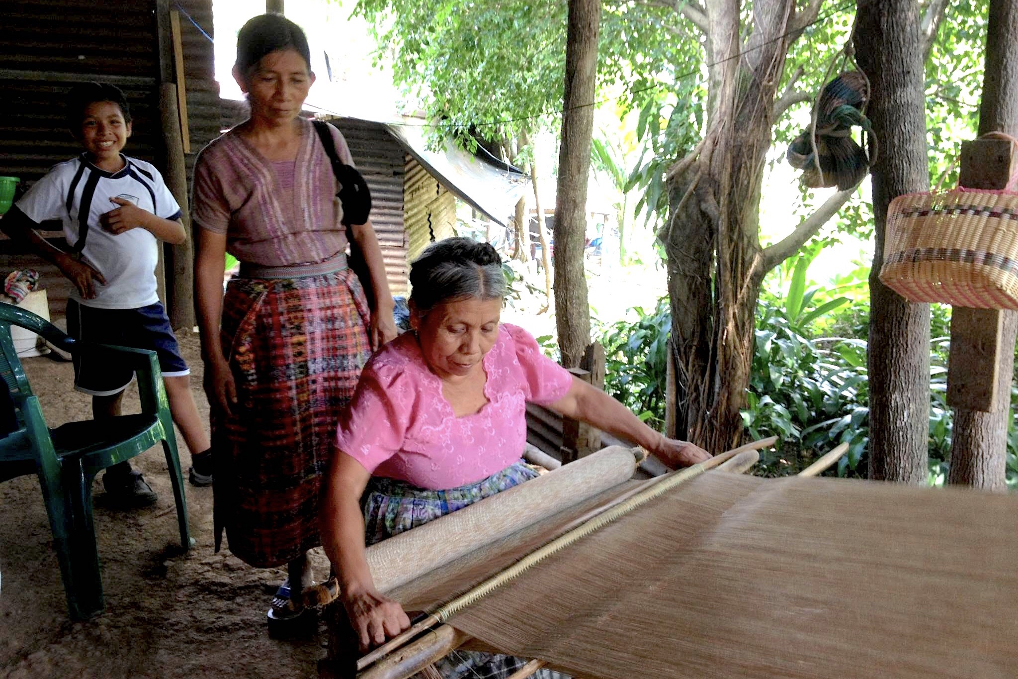 Indigenous - Social Fabric is woven in the indigenous tradition, allowing Guatemalan weavers to preserve their heritage trade. Read more about the production process here.