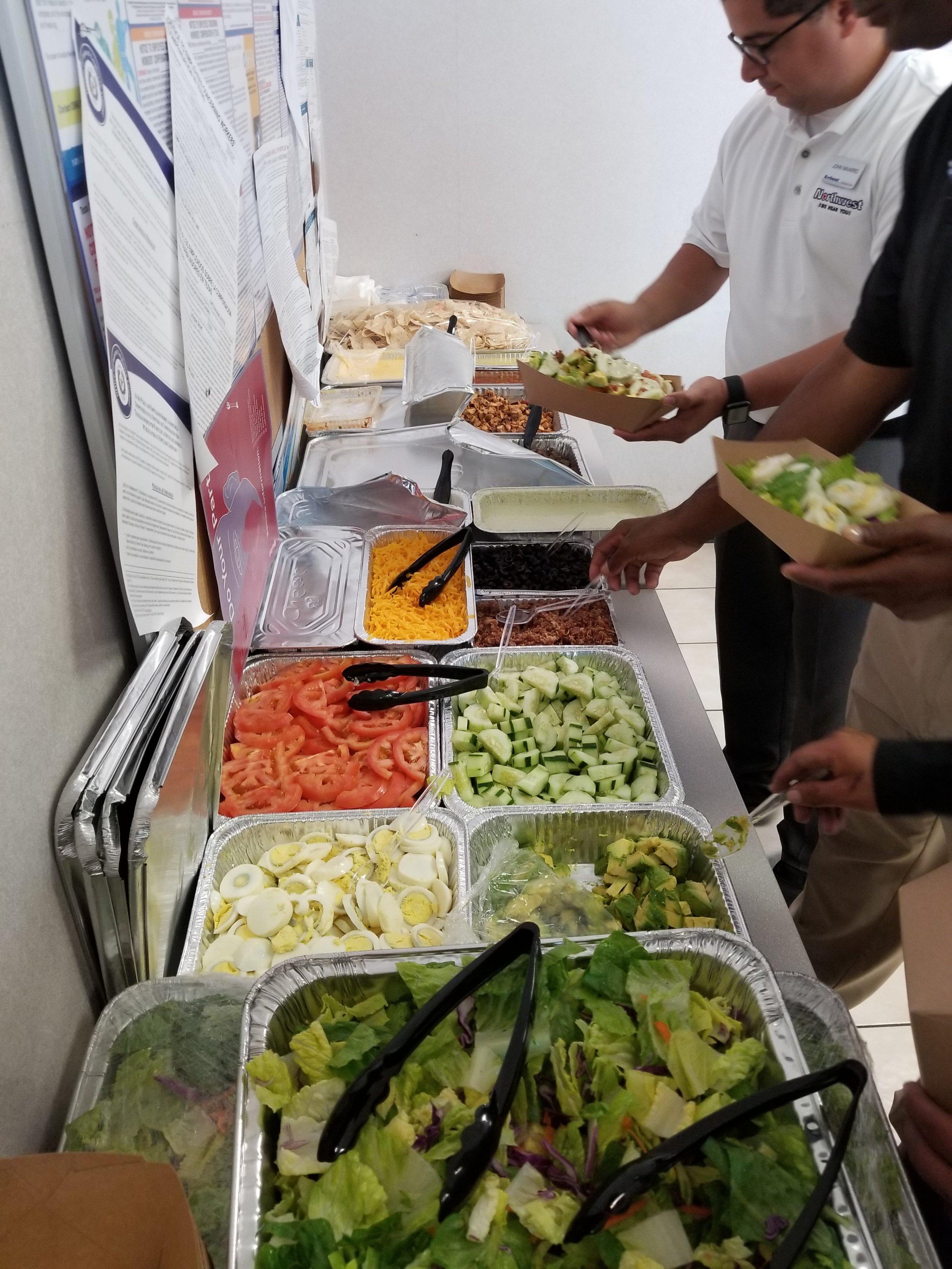 Fajita Salad Bar - Healthy Food Catering in Houston, Texas