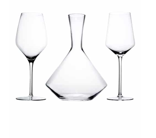 Raye Bordeaux 3-Piece Decanter Set