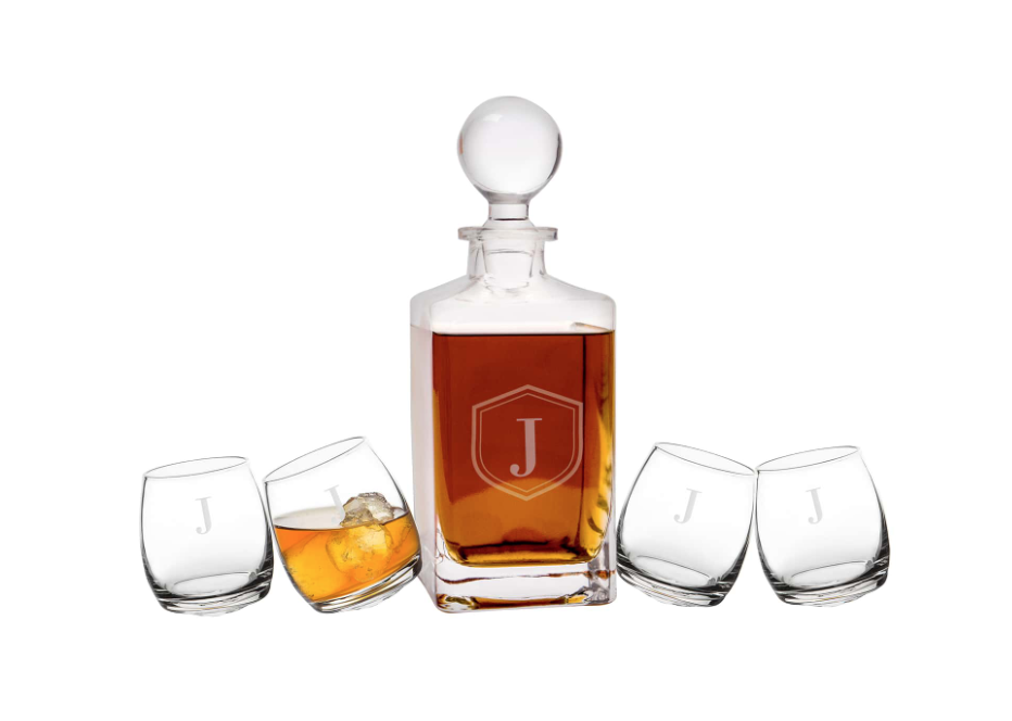 Tipsy Whiskey 5-Piece Decanter Set