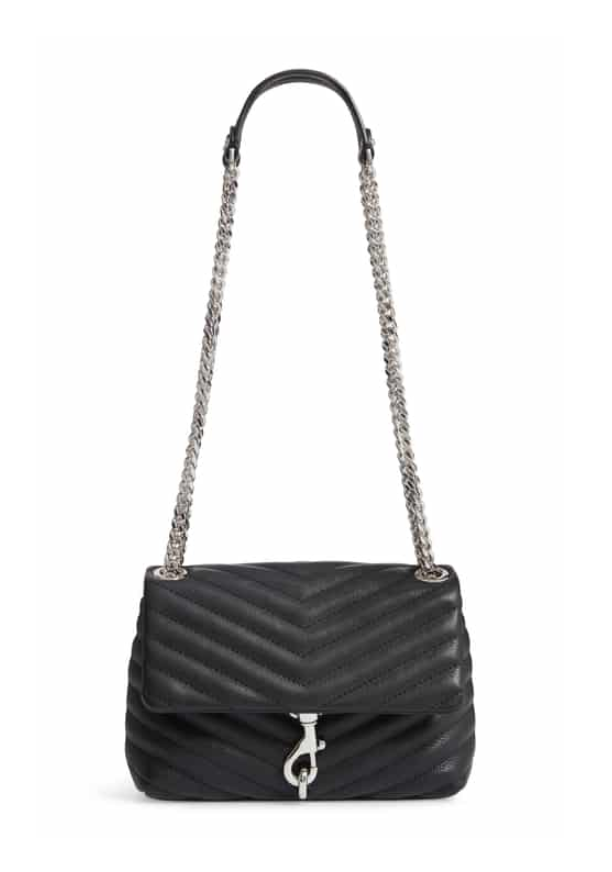 Edie Quilted Leather Crossbody Bag