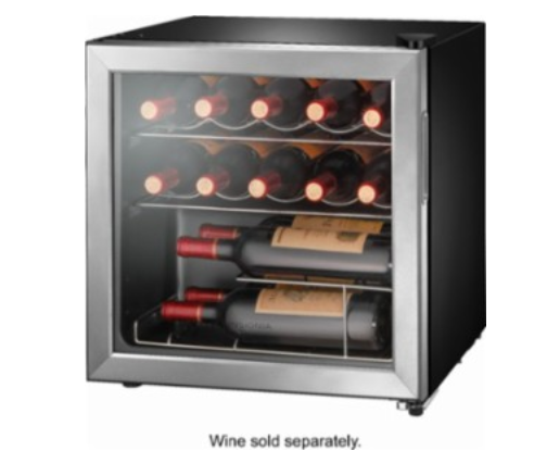 Insignia™ - 14-Bottle Wine Cooler - Stainless steel