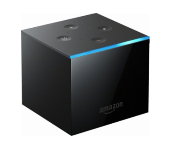 Amazon - Fire TV Cube: Hands-Free Streaming Media Player with Alexa and 4K Ultra HD - Black