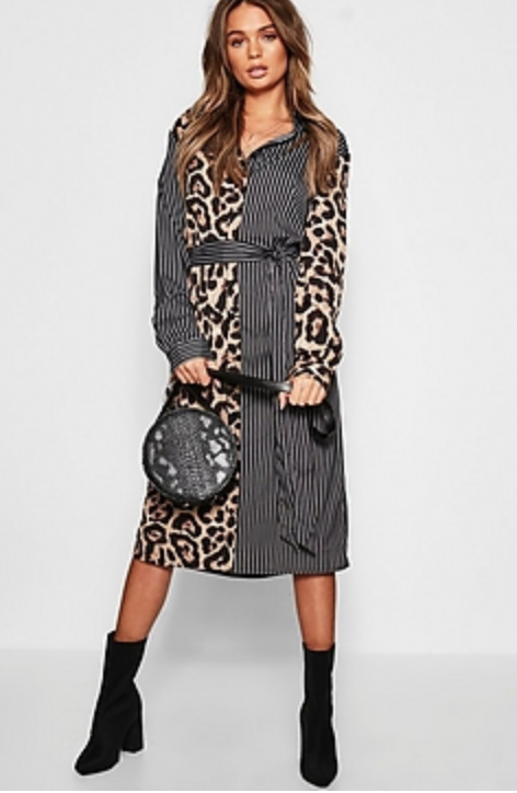 Spot & Stripe Shirt Dress