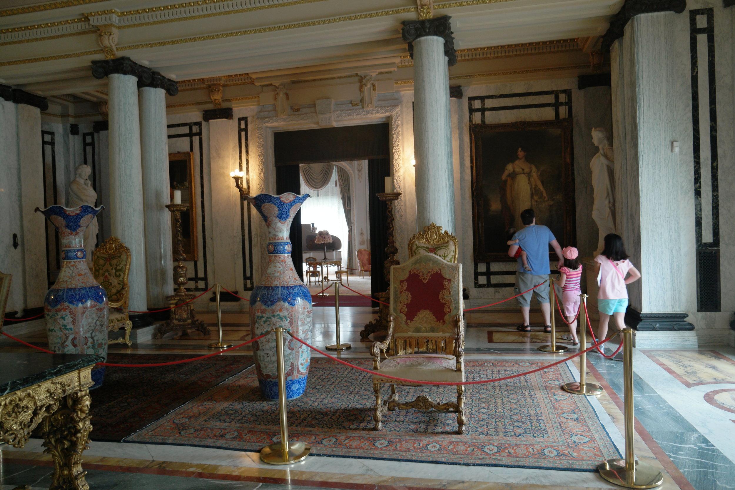 Entrance room of the Flagler Mansion