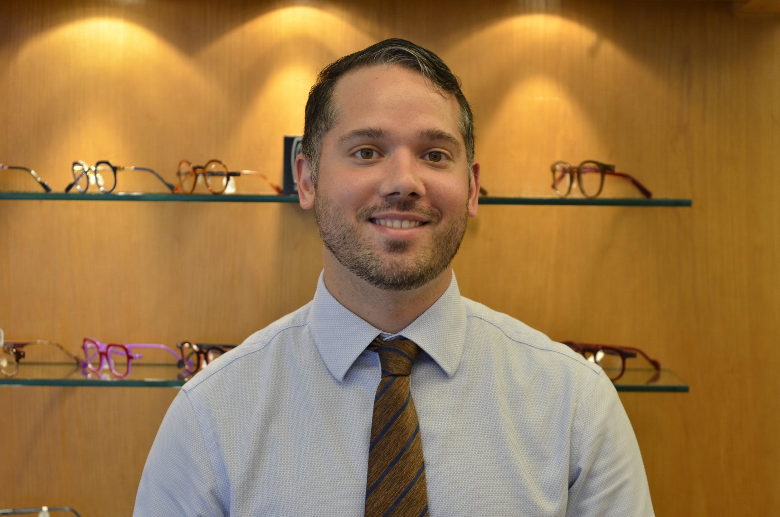 James Morris,        Licensed Optician