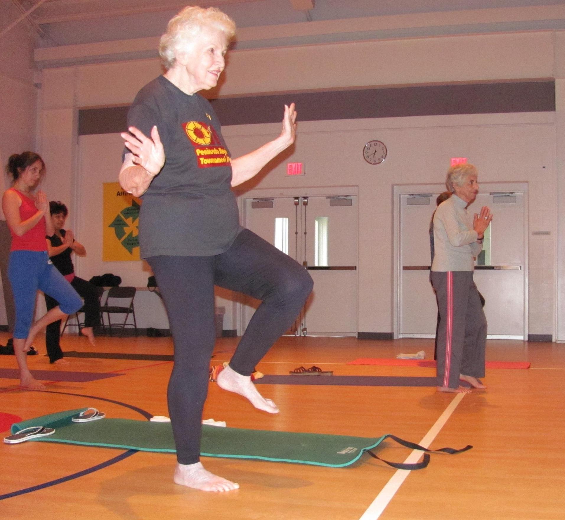 Karma Yoga at Warwick Memorial United Methodist church, Newport News, Virginia. Donna has been doing yoga with me since 2008.