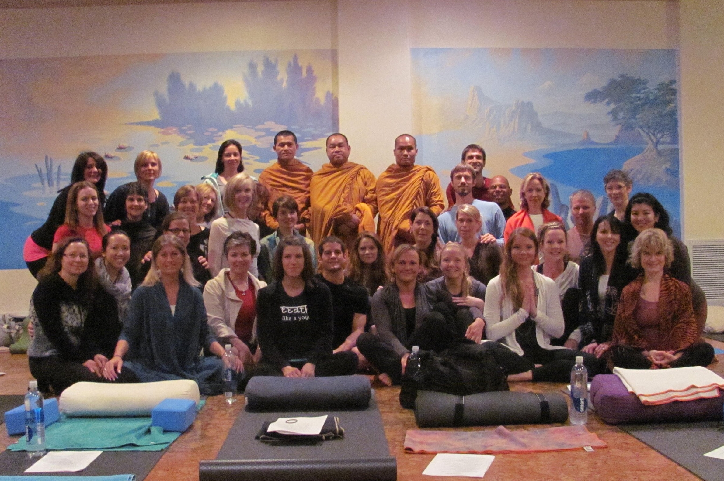 My 500-hour Rolf Gates Vinyasa Teacher training: the day I introduced my friends-the monks who taught me meditation-to my wonderful fellow yogis.