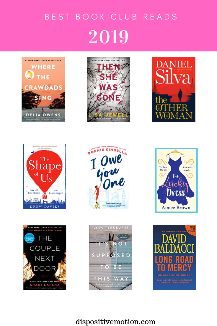 Sharing the best Book Club books for 2019, by Lynn Winter, Lifestyle & Wellness Blogger #bookclub #showusyourbooks #
