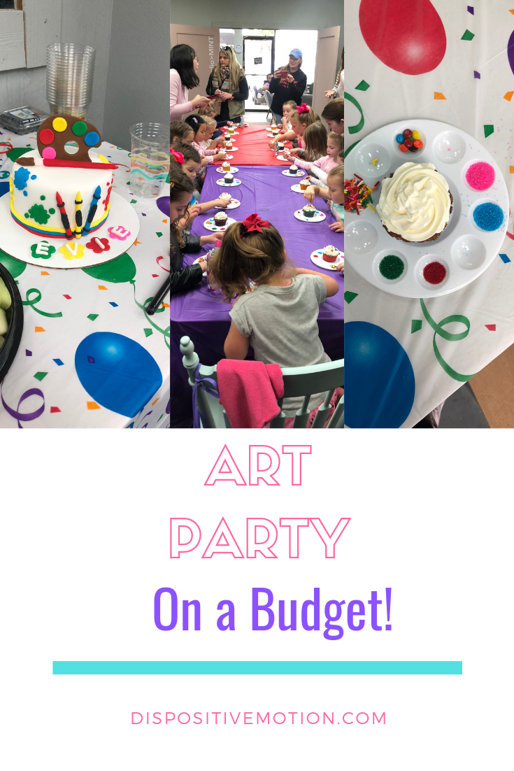 How to Throw an Epic Art Themed Birthday Party on a Budget. From Dollar Store decor to cupcake decorating.