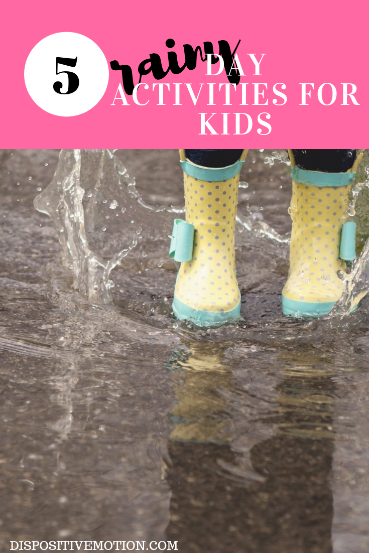 A fun list of indoor activities that are perfect for a rainy day and are screen-free! And these activities are just as much fun for kids as well as adults stuck inside on rainy days.  #RainyDayActivities #RainyDayIdeas #toddleractivites #preschool