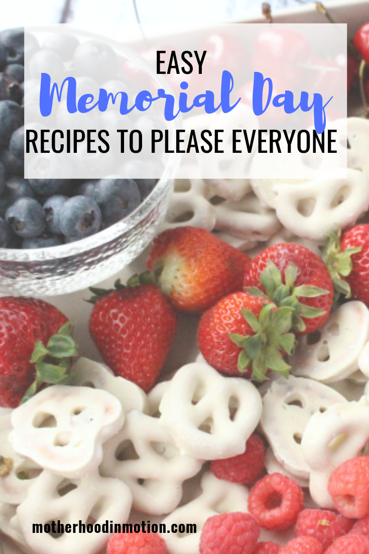 Fun & Easy Memorial Day food ideas. Try these delicious and fun red, white and blue inspired dishes and summer salads for your Memorial Day Party! Lifestyle Blogger, Lynn Winter