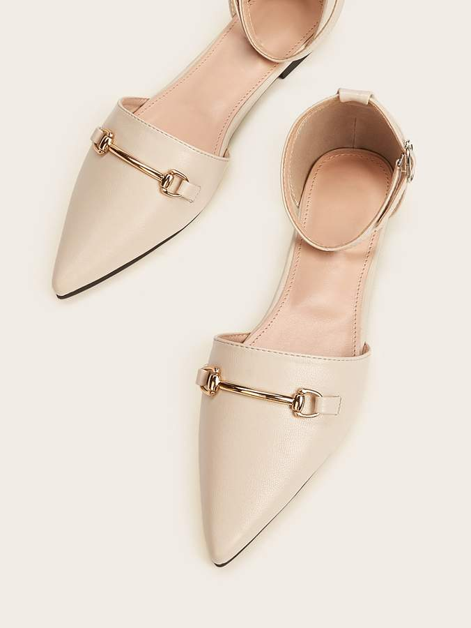 Shein Point Toe Ankle Strap Flat