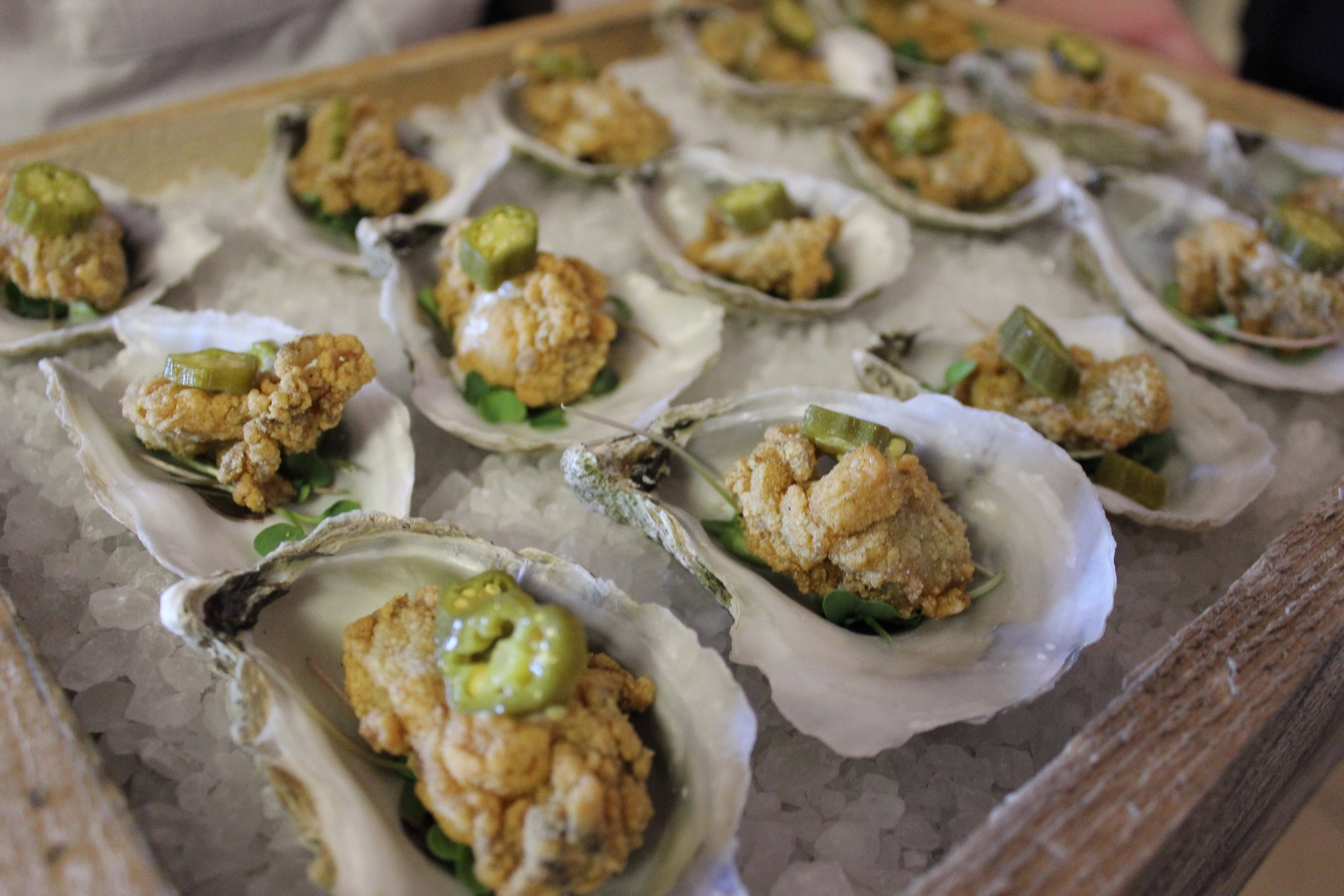 Cornmeal Fried Oysters