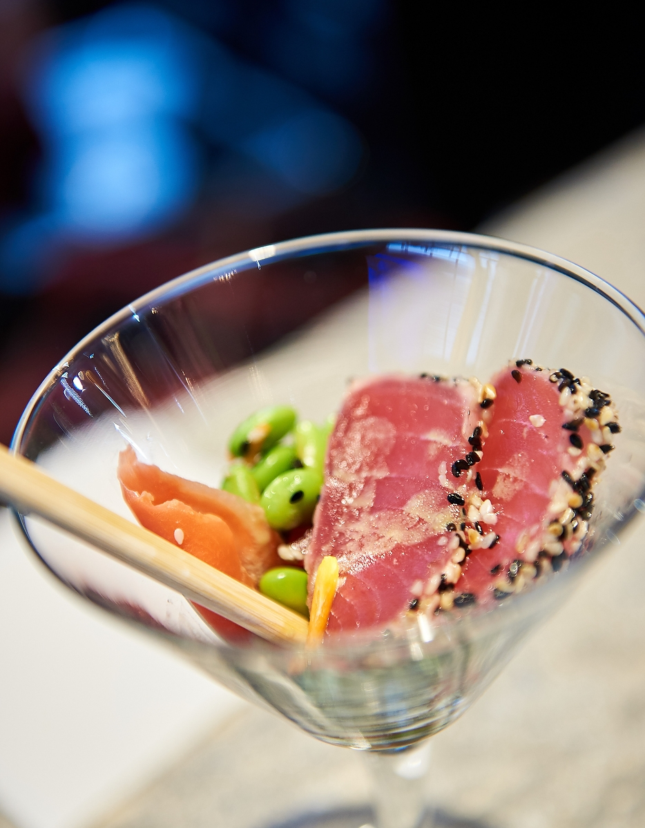 Seared Ahi Tuna Martinis
