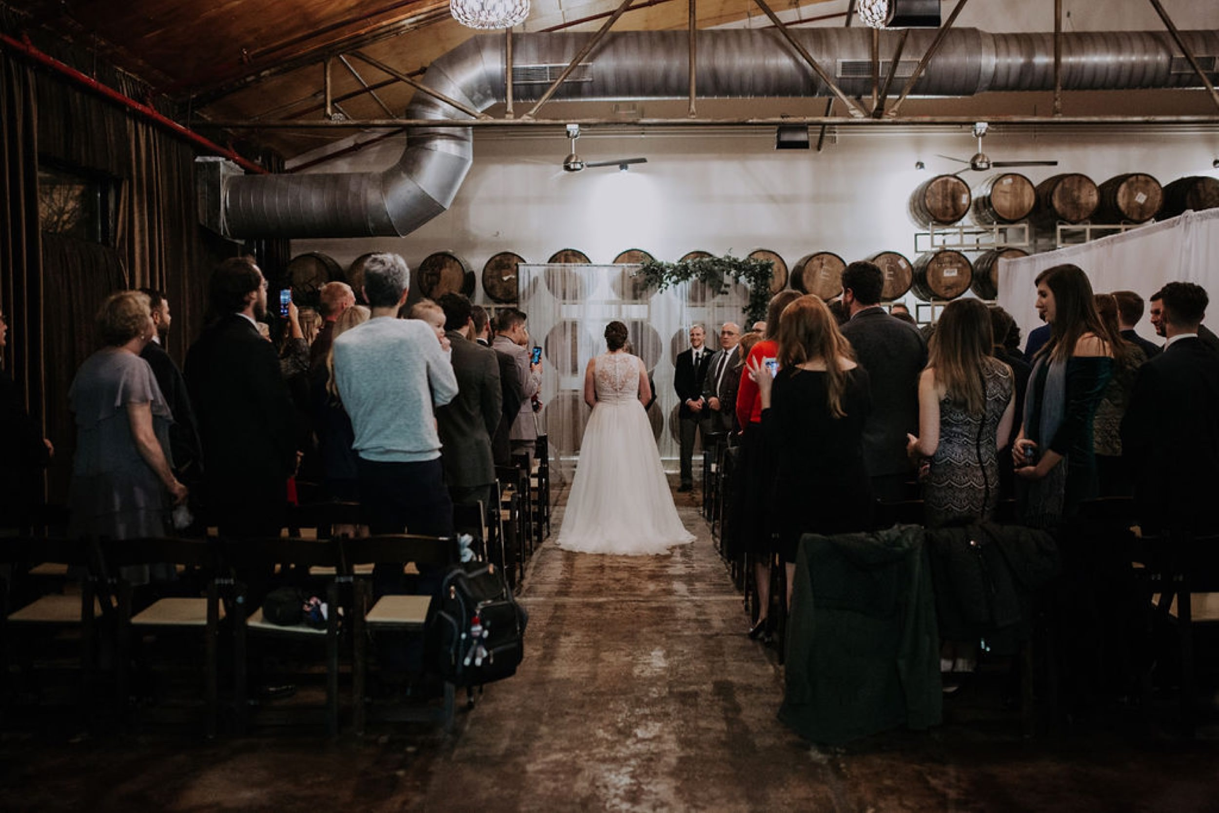 Wedding Ceremony at The Barrel Room