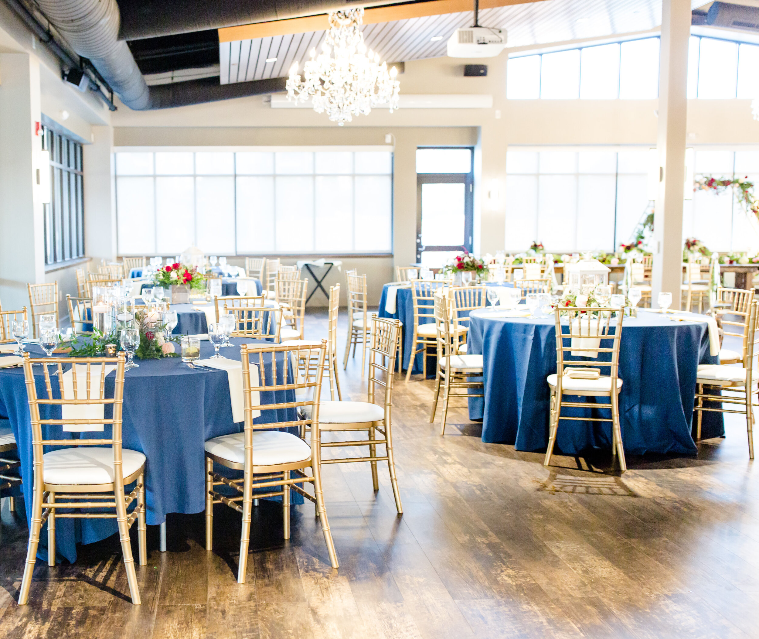 Station Style Wedding Reception at The Terrace at Cedar Hill