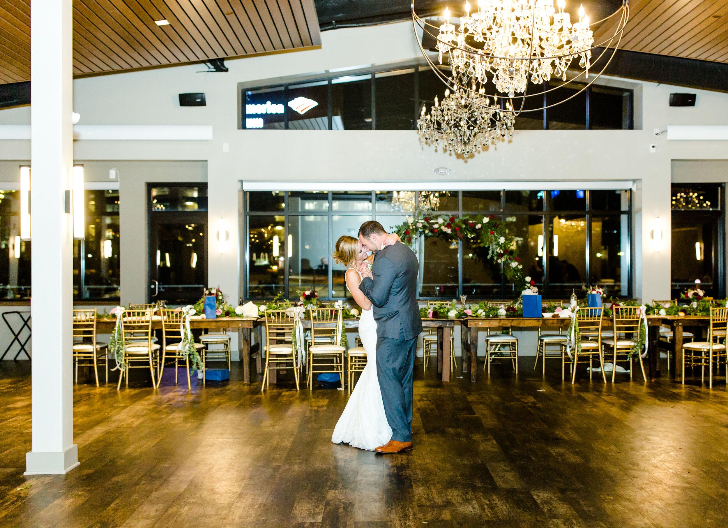 Couple's last dance