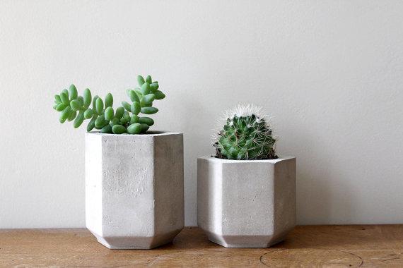 Hexagon Cement planter