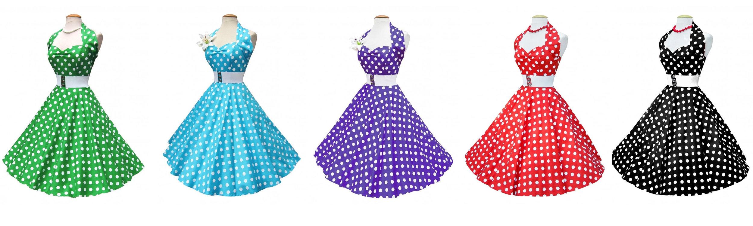 Polka dot dresses from  Vivien of Holloway