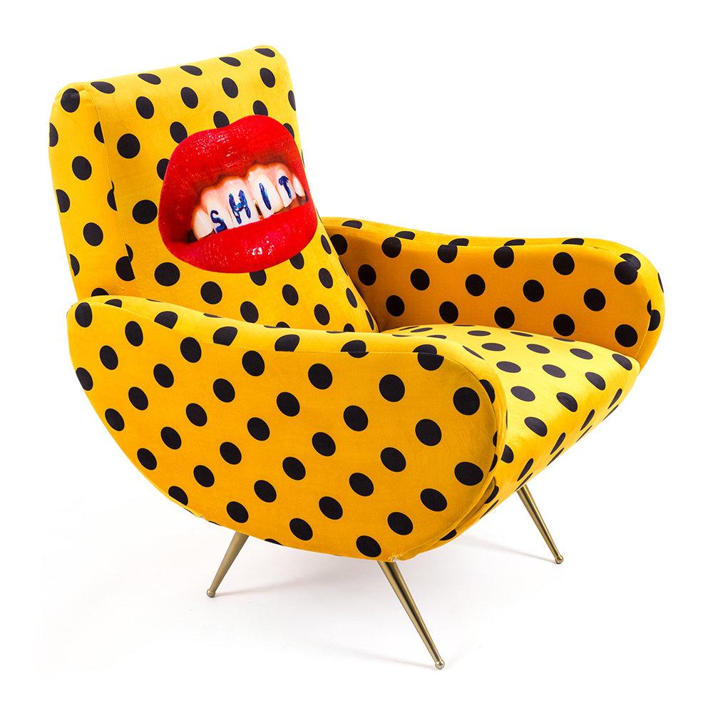 Polka dot armchair from  Amara