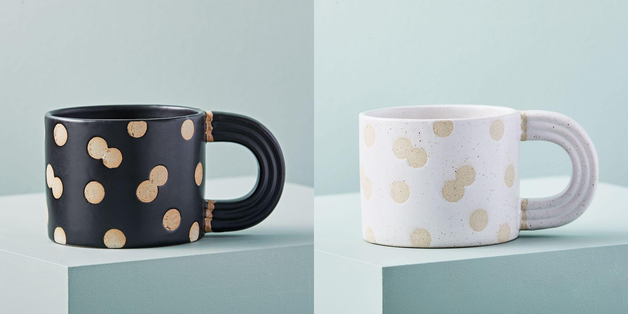 Exposed Cay Dot mugs from  West Elm