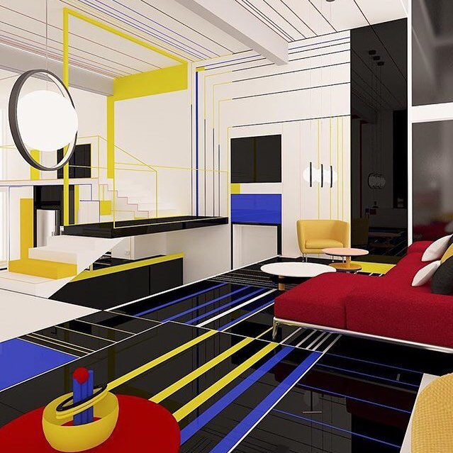 This is definitely going to inspire our kitchen remodel.Part Patrick Caulfield, part Mondrian and part Tron! This work we discovered on @nicole_m_gray 's feed by @branidesi is all kinds of cool/stunning/awesome (pick your own adjective!). Go check out their feed and tell us what you think!