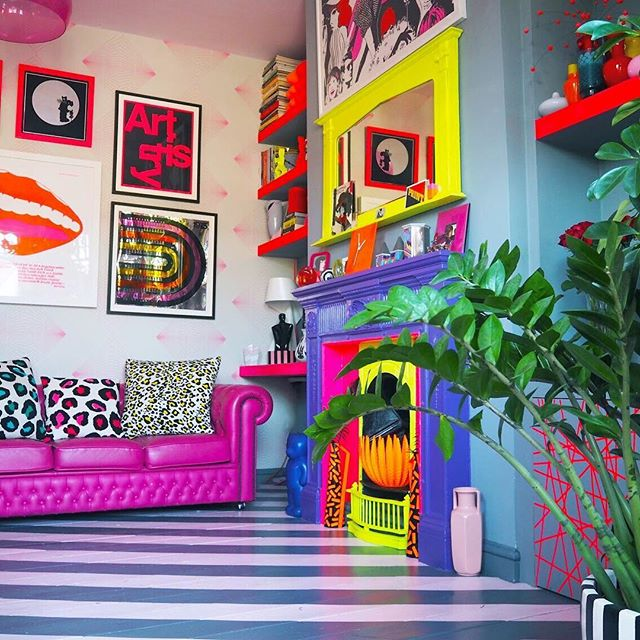Leopard print? Check. Stripes? Check. Neon? Check. Pink? Check. Gallery Wall? Check. Well, that's our Designers Bingo done? Did anyone else get a full house? 😉